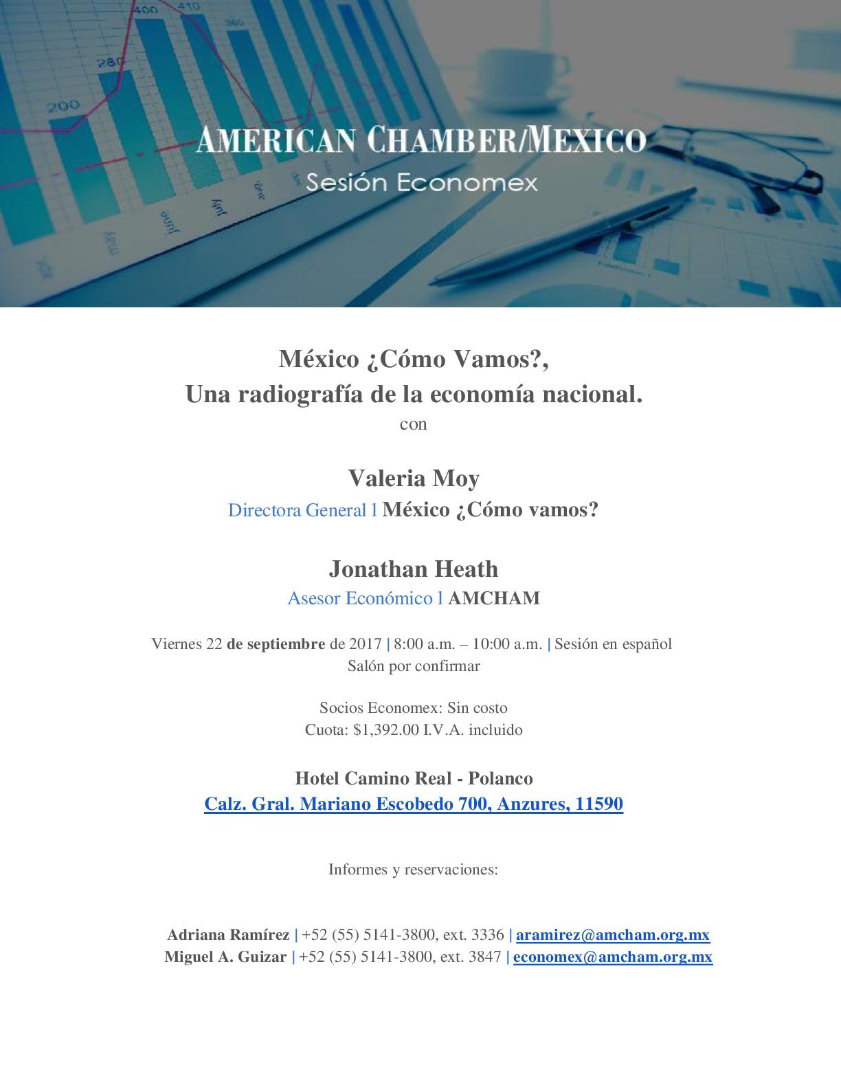 MX Sesión Economex | México ¿Cómo Vamos?, Una radiografía de la economía nacional.