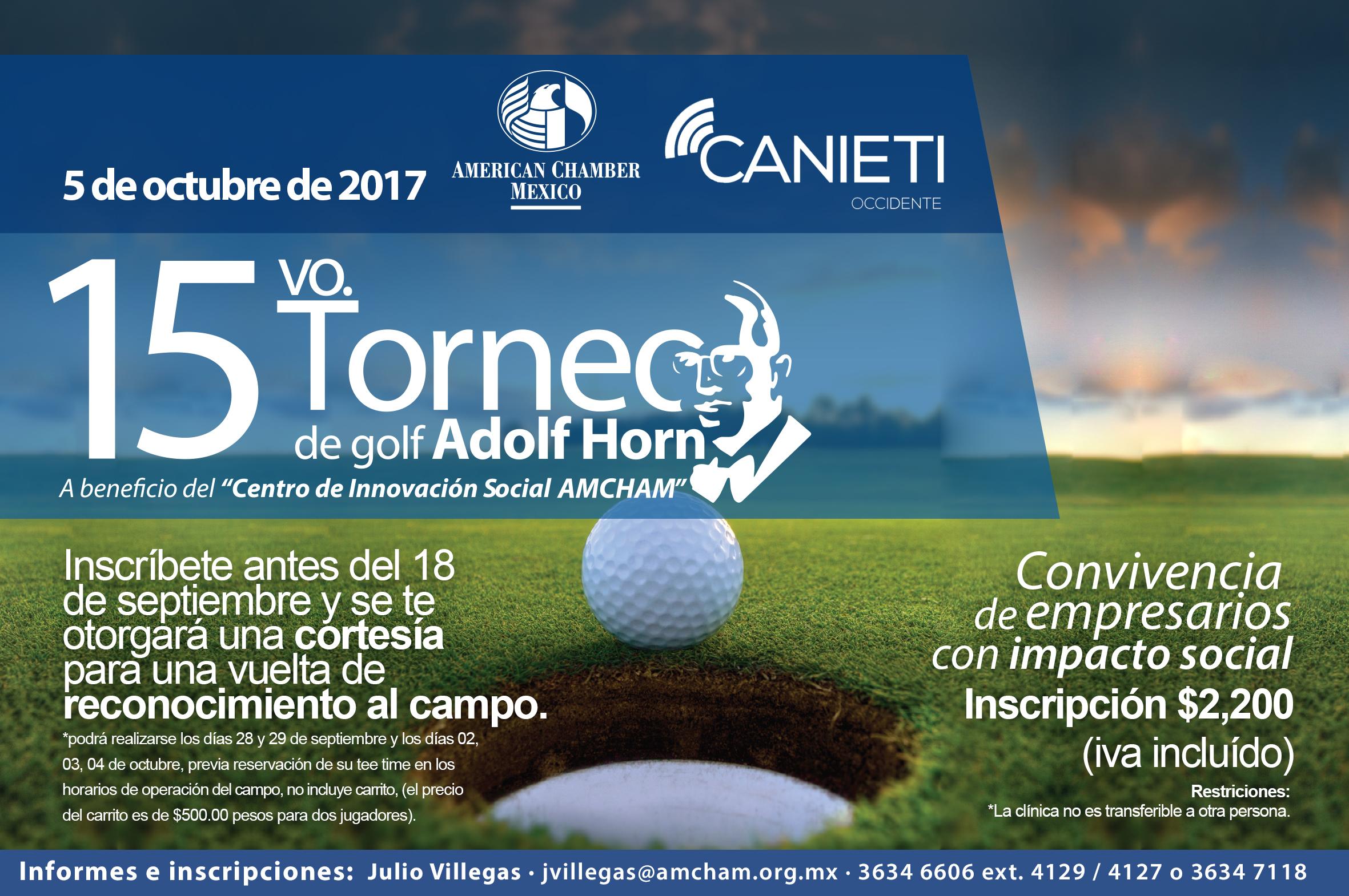 GDL  15vo. TORNEO DE GOLF 2017
