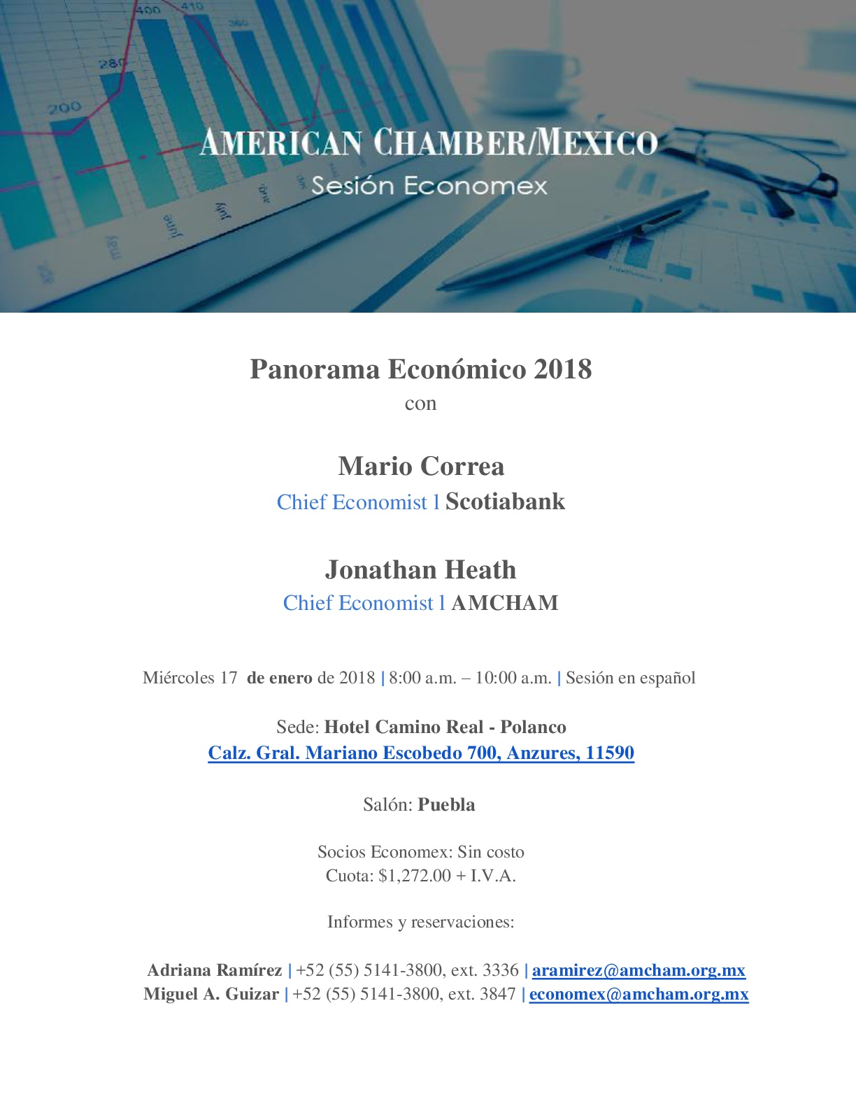 Sesión Economex Miércoles 17 de Enero Panorama Económico 2018