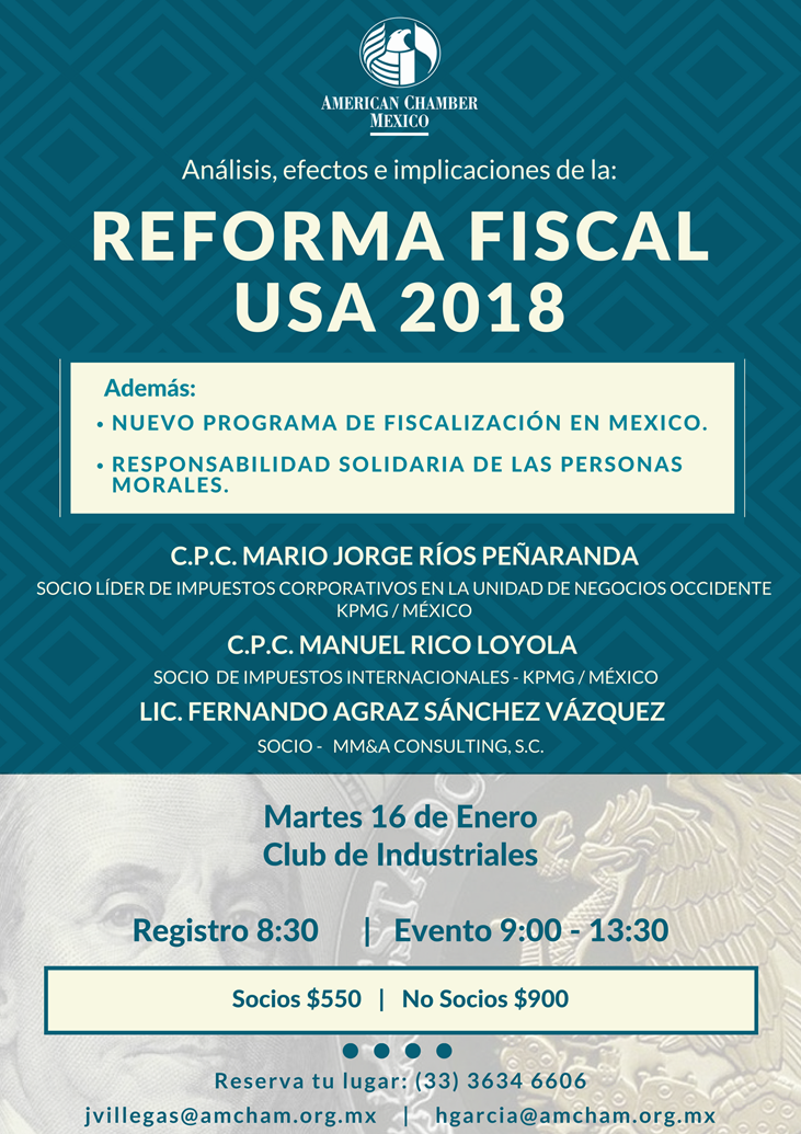 GDL Reforma fiscal USA 2018