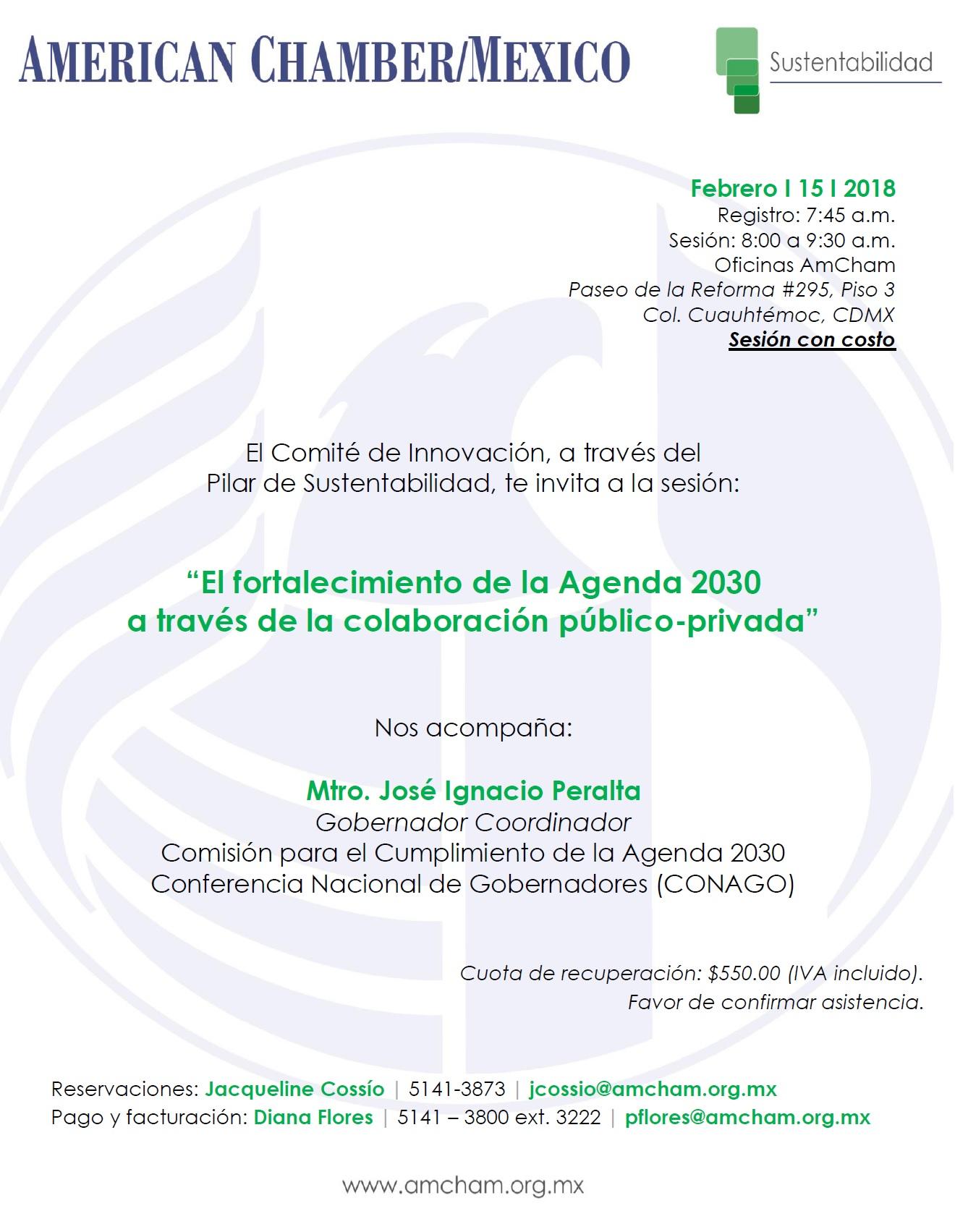 CANCELADO  |  Pilar de Sustentabilidad:Agenda 2030 - 15 de febrero