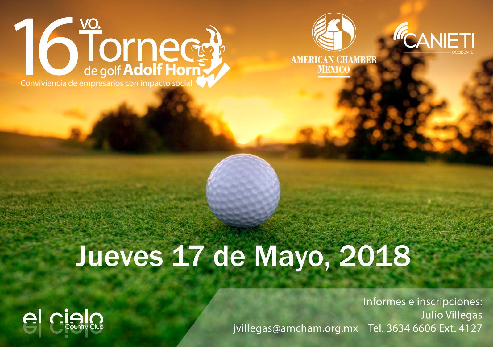 GDL 16vo. Torneo de Golf 2018