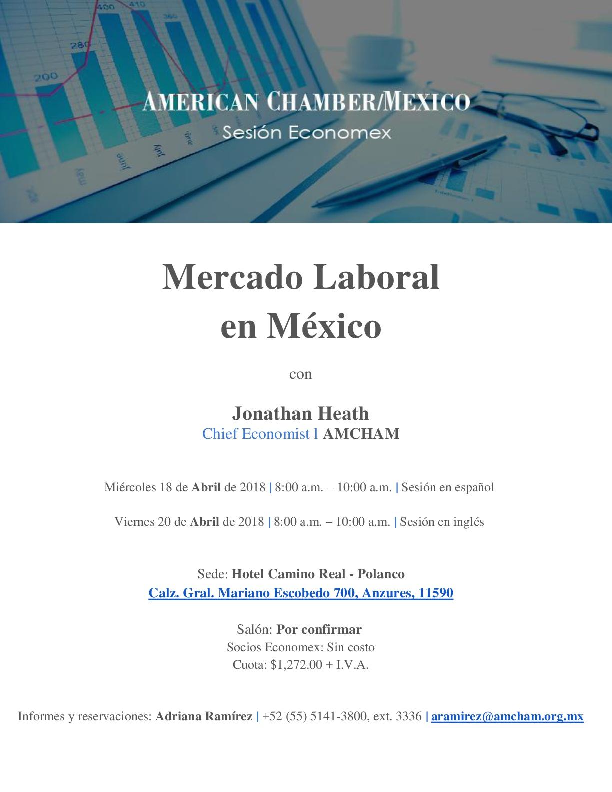 Sesión Economex Miércoles 18 de Abril Mercado Laboral en México