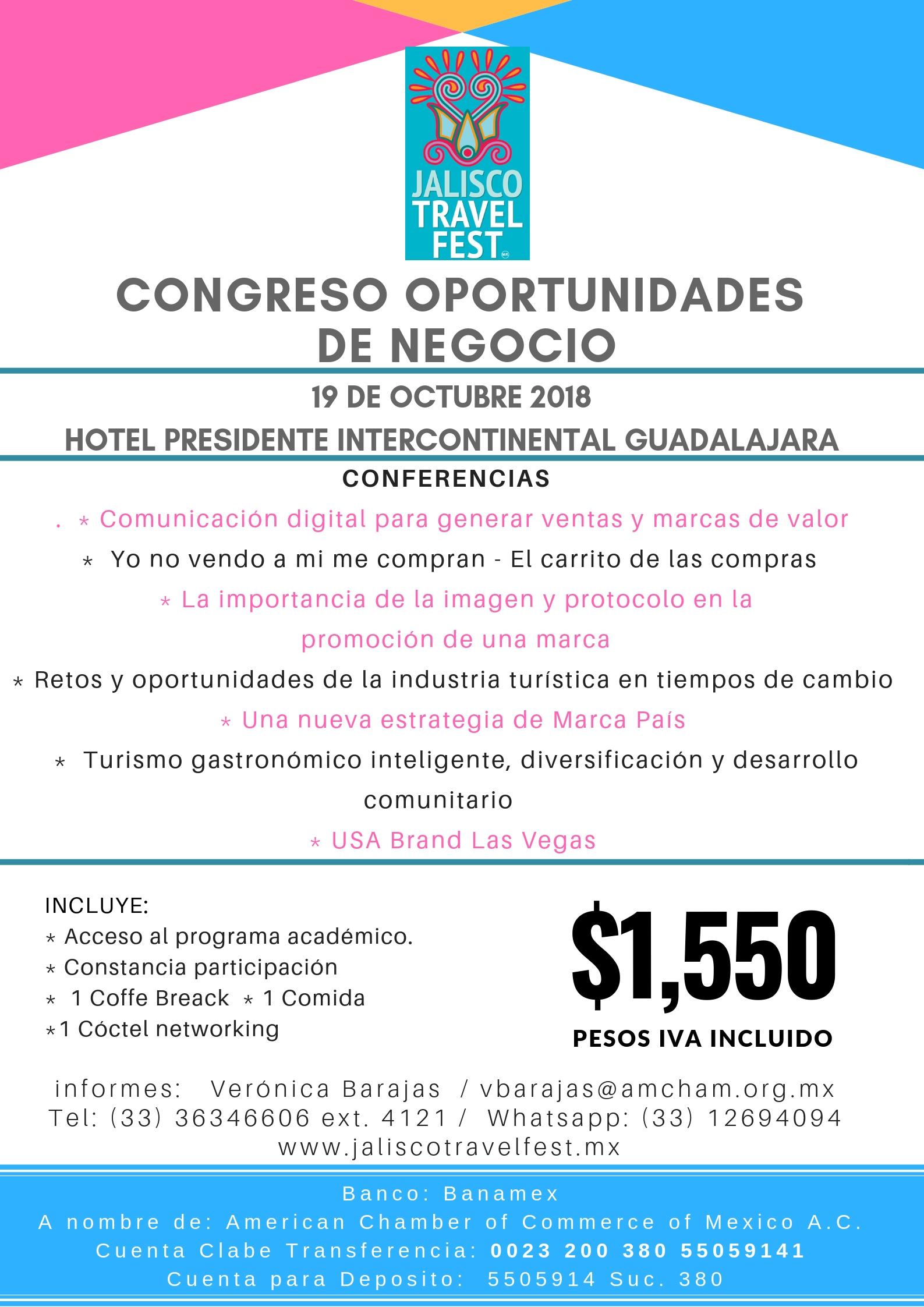 GDL - CONGRESO DE NEGOCIOS JALISCO TRAVEL FEST, OCTUBRE 19, 2018
