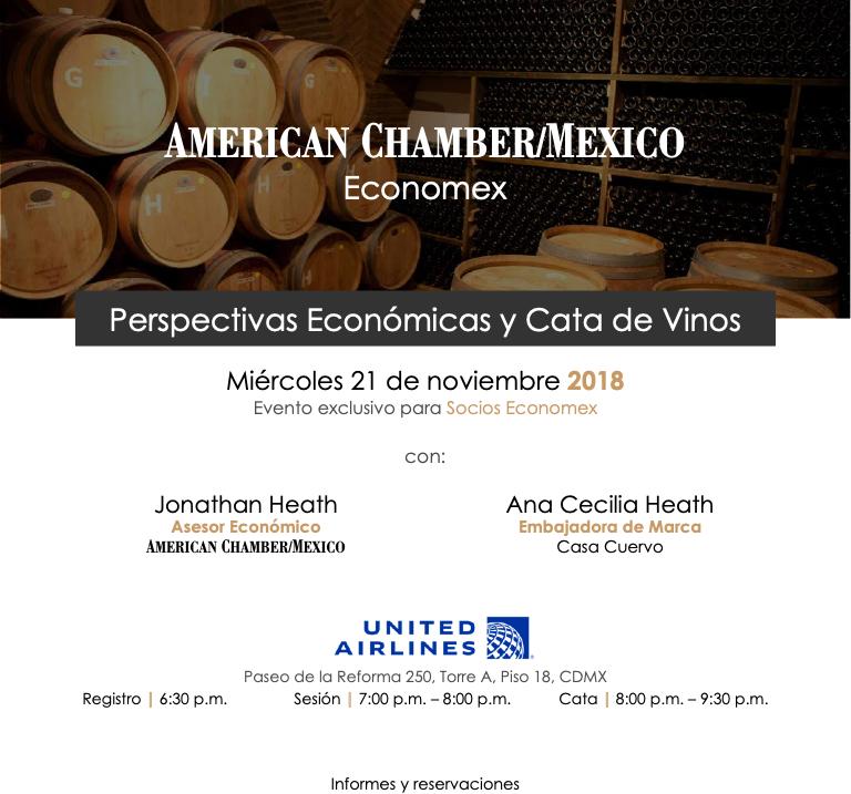 Perspectivas Económicas y Cata de Vinos 21/11/18