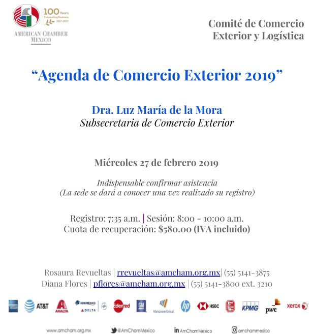 Agenda de Comercio Exterior 2019