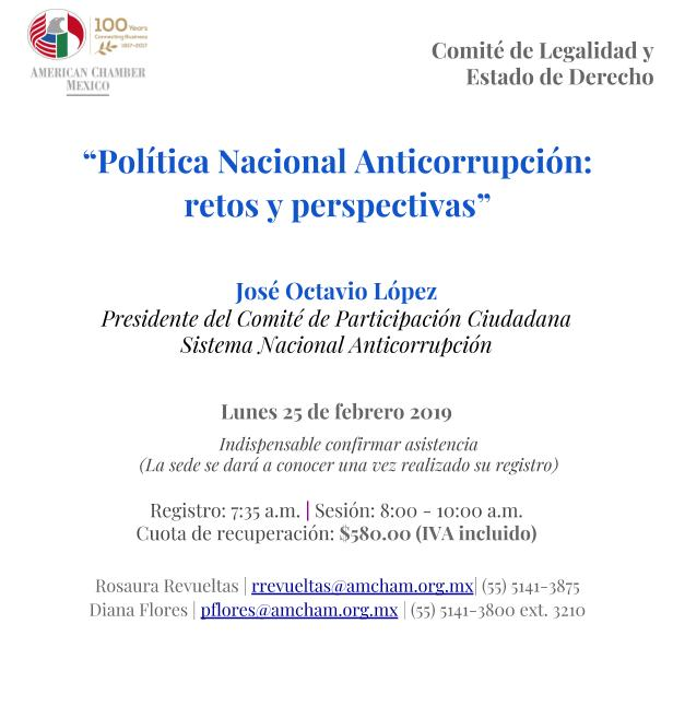 Política Nacional Anticorrupción: retos y perspectivas