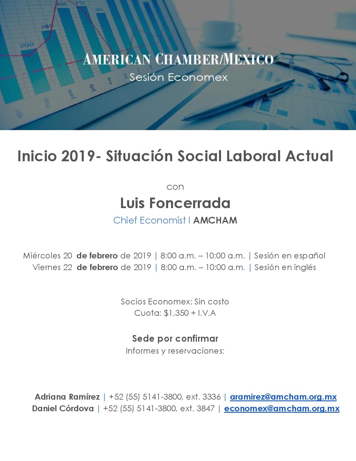 Sesión Economex: Inicio 2019- Situación Social Laboral Actual
