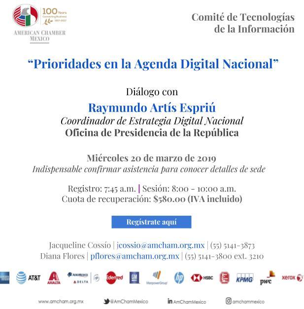 Prioridades en la Agenda Digital Nacional