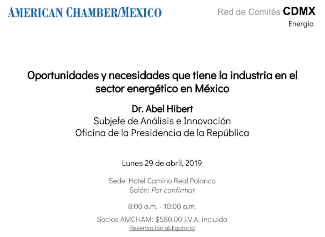 Oportunidades y necesidades que tiene la industria en el sector energético en México