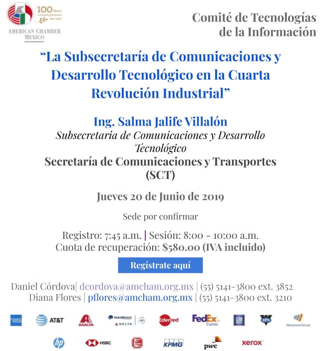La Subsecretaría de Comunicaciones y Desarrollo Tecnológico en la Cuarta Revolución Industrial