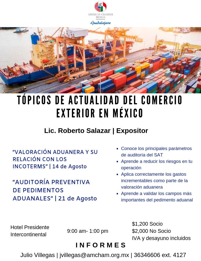 GDL Taller Comercio Exterior agosto 2019