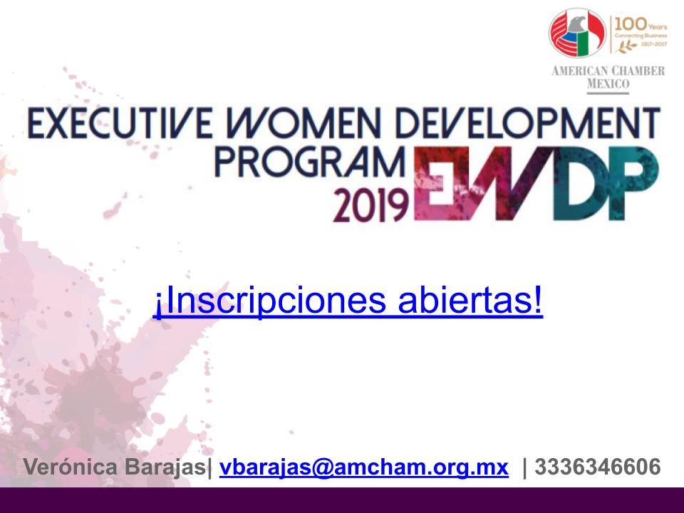 GDL- EXECUTIVE WOMAN DEVELOPMENT PROGRAM (EWDP 2019)