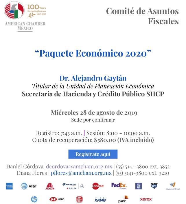 Sesión Comité de Asuntos Fiscales: Paquete Económico 2020