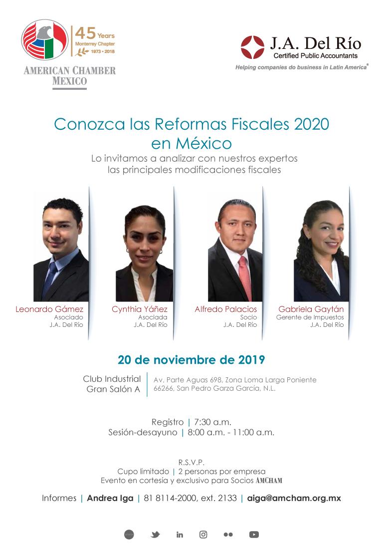 """MTY - Chamber Day """"Conozca las Reformas Fiscales 2020 en México"""""""