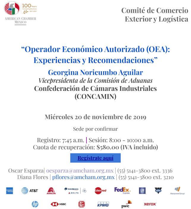 """Sesión de Comité de Comercio Exterior y Logística: """"Operador Económico Autorizado"""""""
