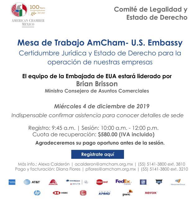 Mesas de trabajo AmCham- U.S. Embassy