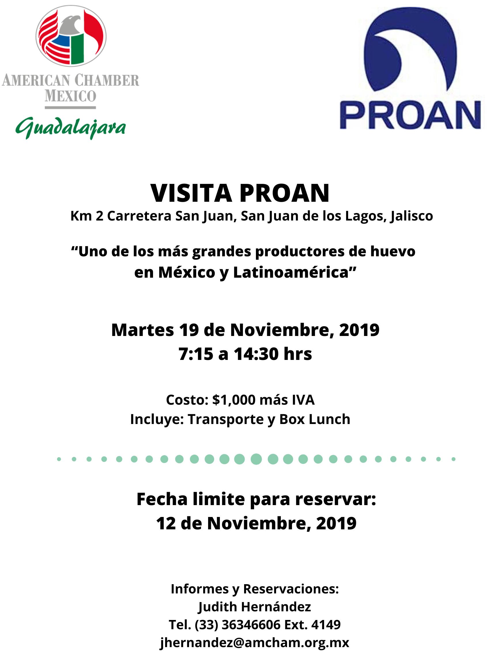 GDL-VISITA A PROAN, Noviembre 19, 2019