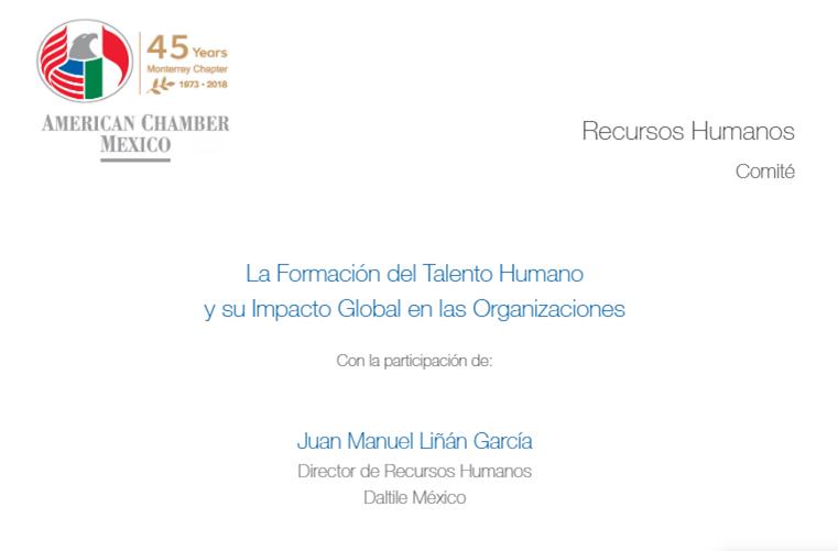 """MTY - Sesión ordinaria Comité RRHH """"La Formación del Talento Humano y su Impacto Global en las Organizaciones"""""""