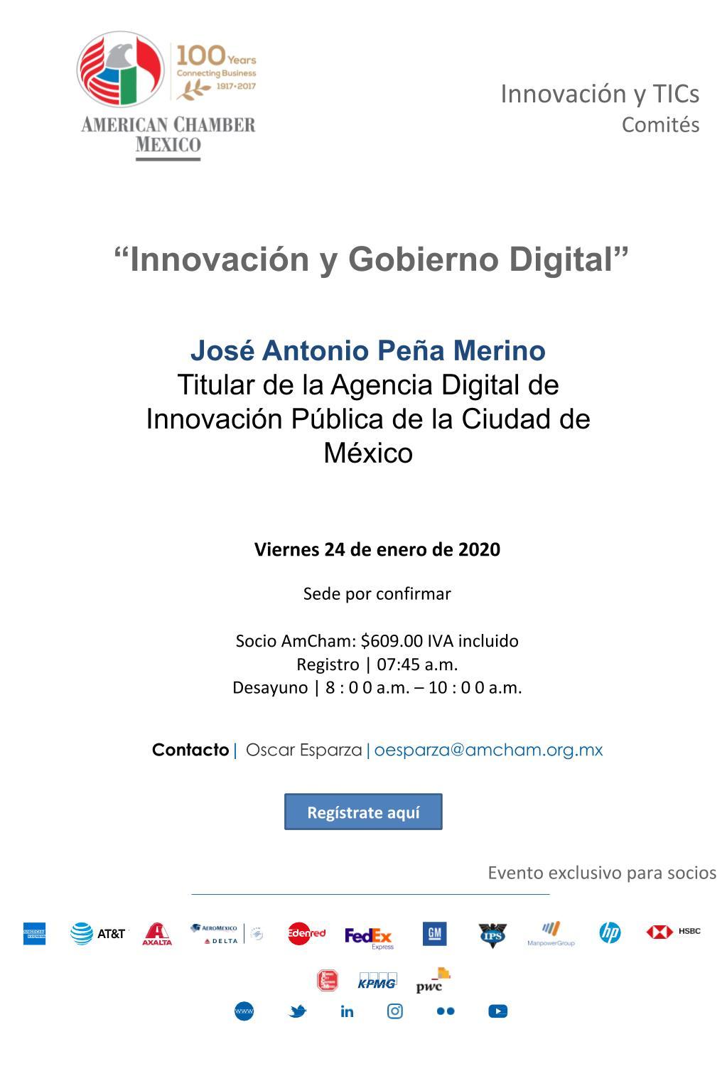 """Sesión de Comité de Innovación y TICs: """"Innovación y Gobierno Digital"""""""