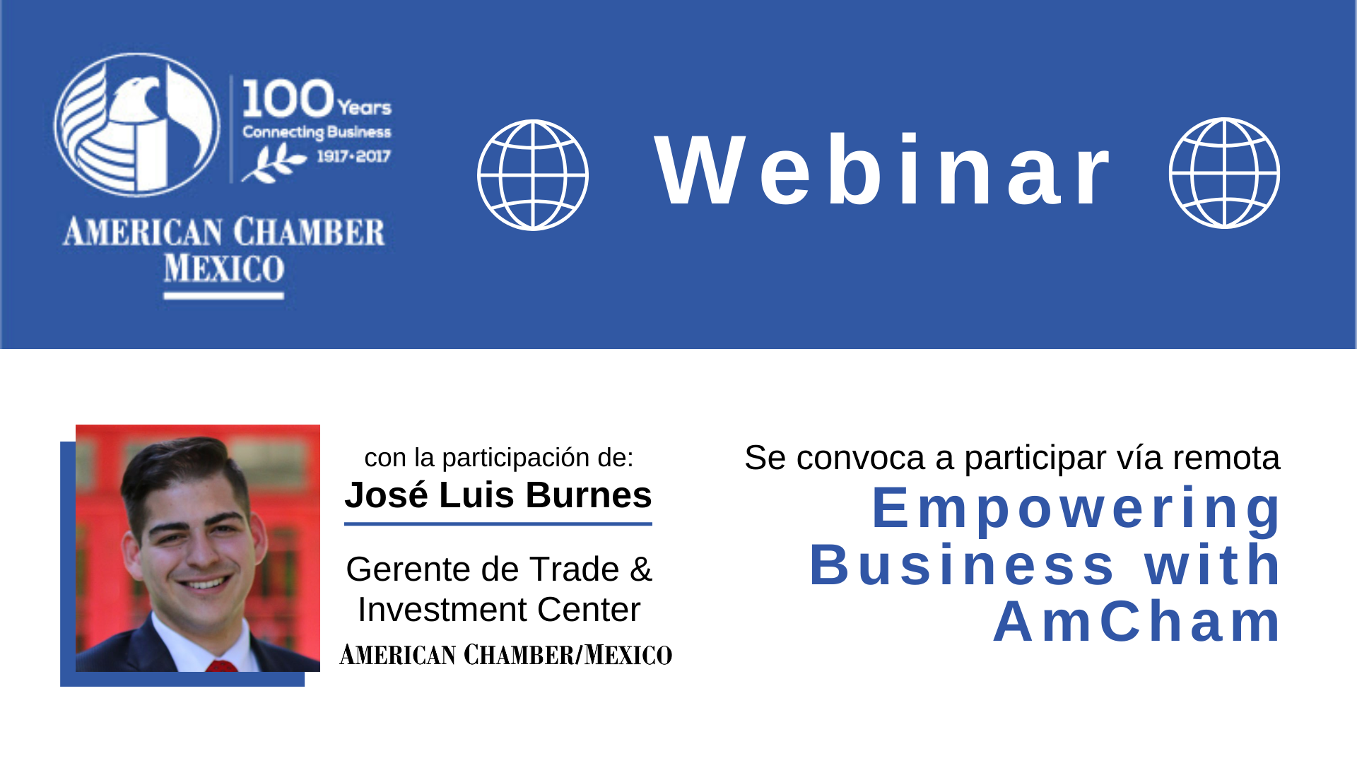 MTY WEBINAR - Empowering Business with AmCham