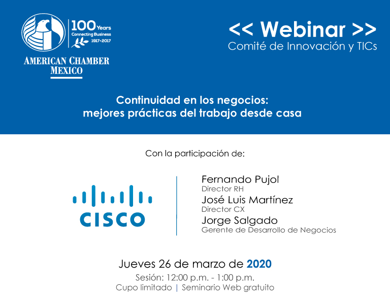 """Sesión de Comité de Innovación y TICs: """"Continuidad de negocios: mejores prácticas del trabajo desde casa"""""""
