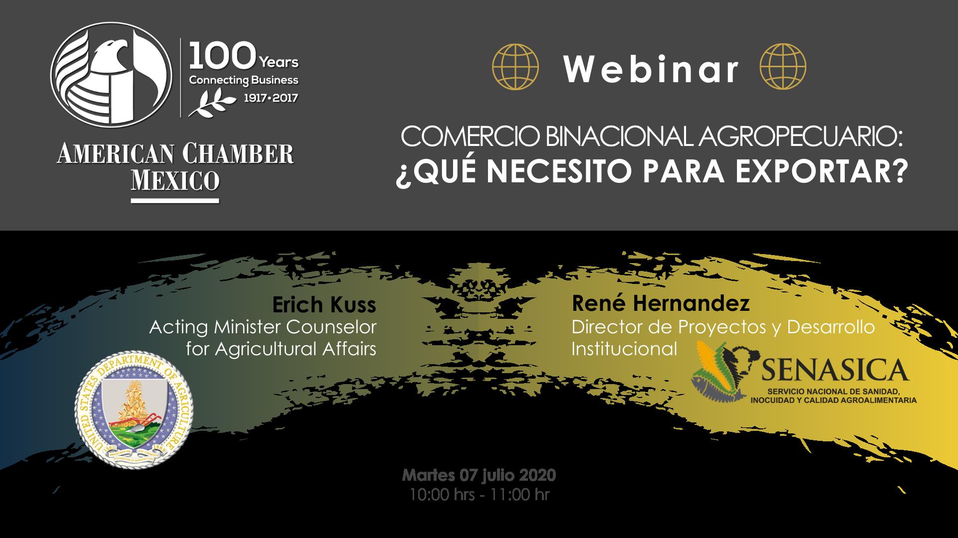 MTY WEBINAR - Comercio Binacional Agropecuario: ¿Qué necesito para exportar?