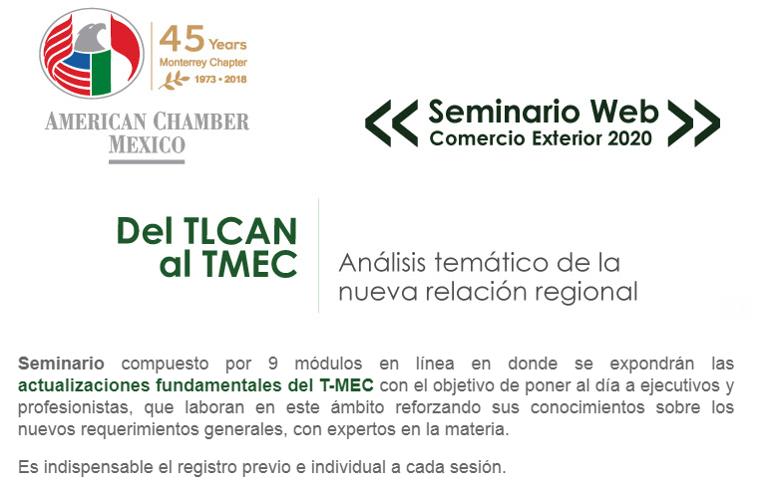 Seminario de Comercio Exterior 2020: Del TLCAN al TMEC