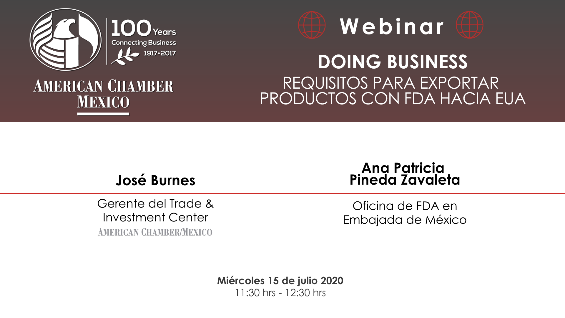 MTY WEBINAR - Doing Business: Requisitos para exportar productos con FDA hacia EUA