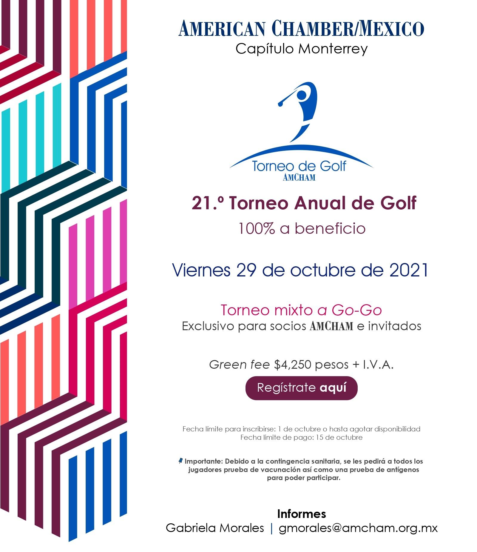 MTY - Torneo Anual de Golf 2021